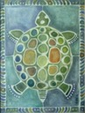E. Andres Mills, Timid Turtle, acrylic on canvas, 24 x 18 inches Steven Burns SM