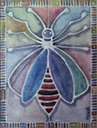E. Andrew Mills, Untitled Bee, acrylic on canvas, 24 x 18 inches Danny Burns SM